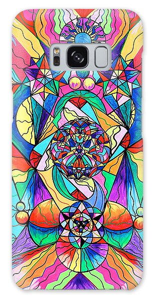 Spirituality Galaxy Case - Blue Ray Transcendence Grid by Teal Eye Print Store