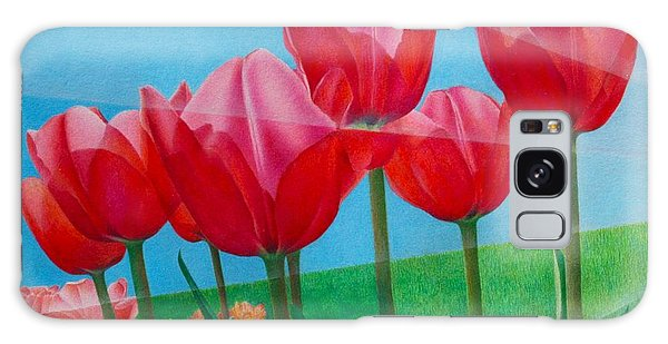 Blue Ray Tulips Galaxy Case