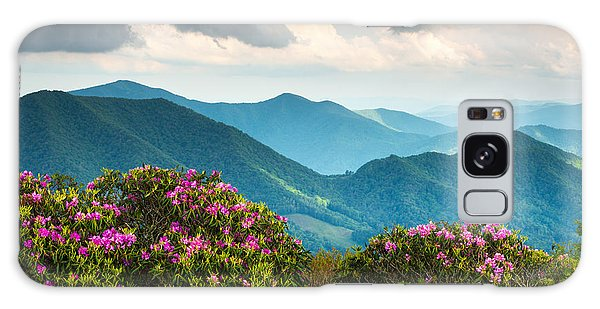 Blue Ridge Appalachian Mountain Peaks And Spring Rhododendron Flowers Galaxy Case
