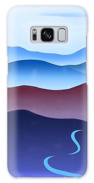 Blue Ridge Blue Road Galaxy Case