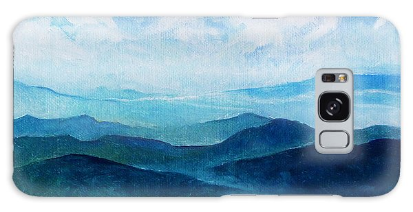 Blue Ridge Blue Skyline Sheep Cloud Galaxy Case by Catherine Twomey