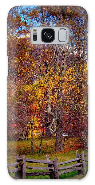Blue Ridge Fenced In Fall Galaxy Case
