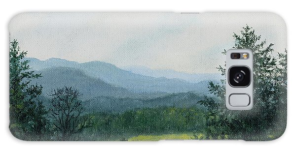 Blue Ridge Mountain Meadow - After The Rain Galaxy Case by Kathleen McDermott