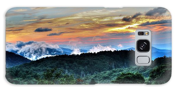 Blue Ridge Mountain Sunrise  Galaxy Case