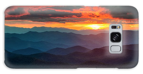 Blue Ridge Mountains Sunset From Southern Blue Ridge Parkway Galaxy Case