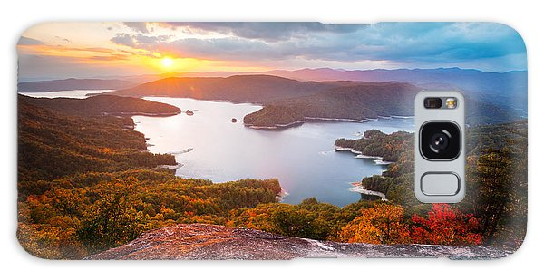 Blue Ridge Mountains Sunset - Lake Jocassee Gold Galaxy Case