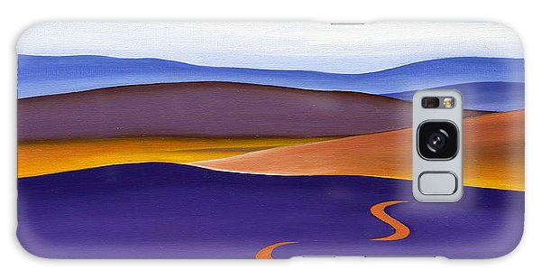 Blue Ridge Orange Mountains Sky And Road In Fall Galaxy Case by Catherine Twomey