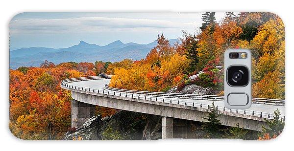 Blue Ridge Parkway Fall Foliage Linn Cove Viaduct Galaxy Case
