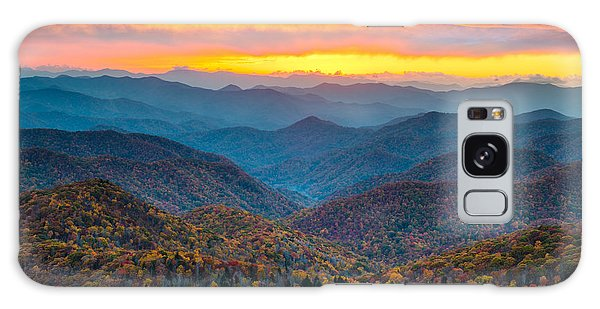Blue Ridge Parkway Fall Sunset Landscape - Autumn Glory Galaxy Case