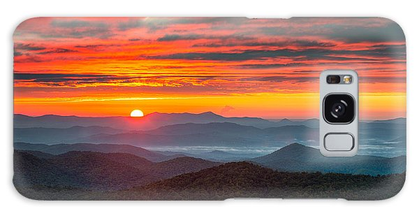 North Carolina Blue Ridge Parkway Nc Autumn Sunrise Galaxy Case