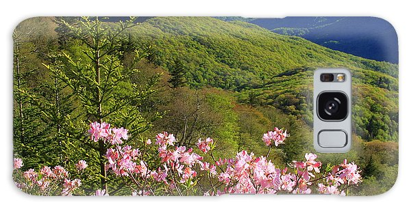Blue Ridge Parkway Rhododendron Bloom- North Carolina Galaxy Case by Mountains to the Sea Photo