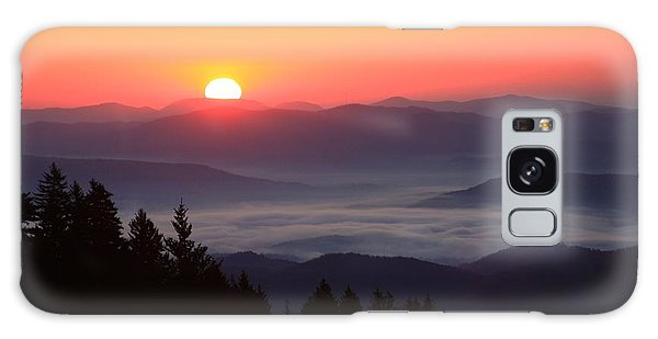 Blue Ridge Parkway Sea Of Clouds Galaxy Case by Mountains to the Sea Photo