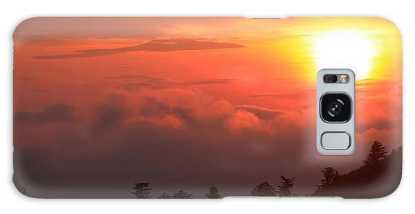 Blue Ridge Sunrise Great Balsam Mountains Galaxy Case by Mountains to the Sea Photo