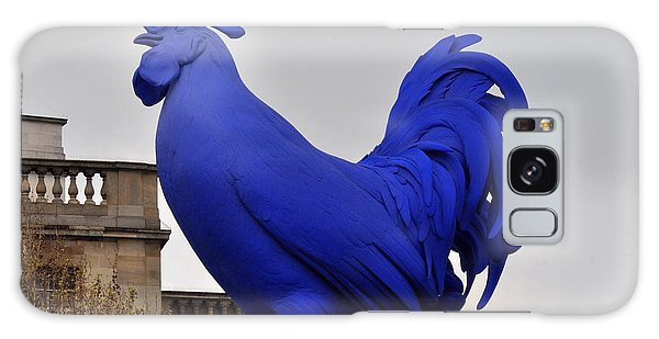 Blue Rooster In Trafalgar Square London Galaxy Case