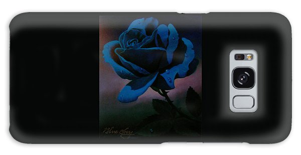 Blue Rose Galaxy Case