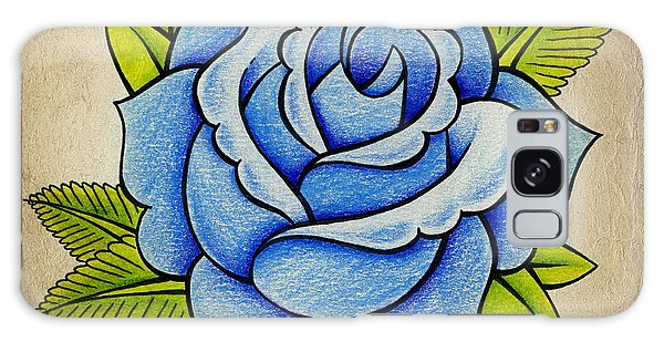 Rose Galaxy S8 Case - Blue Rose by Samuel Whitton