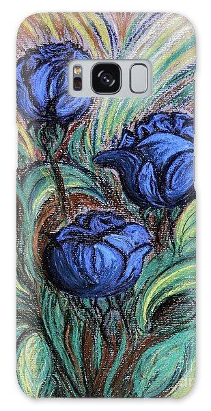 Blue Roses Galaxy Case