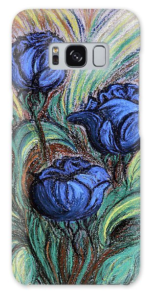 Blue Roses Galaxy Case by Jasna Dragun
