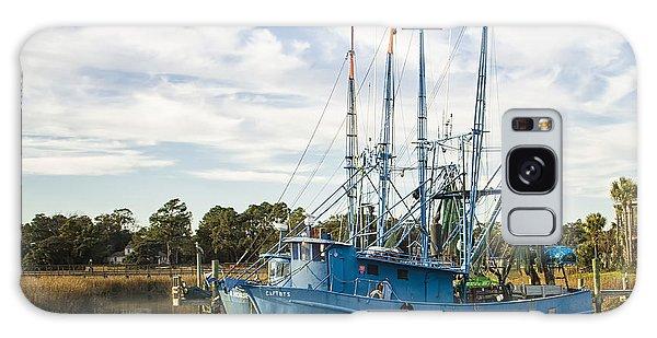 Blue Shrimp Boats On Shem Creek Galaxy Case