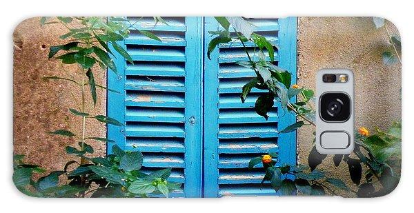 Blue Shuttered Window Galaxy Case
