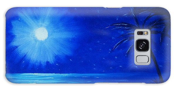 Blue Sky At Night Galaxy Case by Arlene Sundby