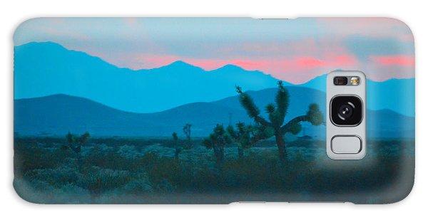 Blue Sky Cacti Sunset Galaxy Case
