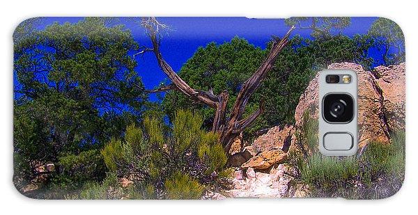 Blue Sky Over The Canyon Galaxy Case
