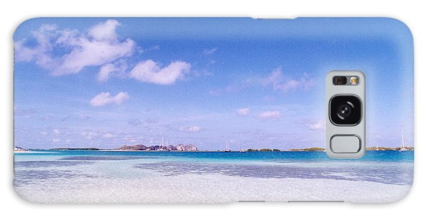 Blue Sky Over White Sandy Beach Galaxy Case by Celso Diniz