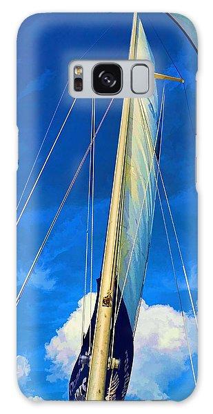 Blue Sky Sailing Galaxy Case by Pamela Blizzard