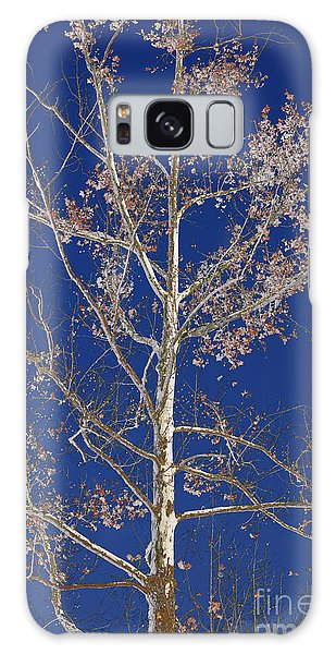 Blue Sky With A Twist Of Birch Galaxy Case