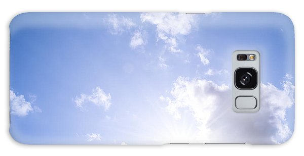 Cloudscape Galaxy Case - Blue Sky With Sun And Clouds by Elena Elisseeva
