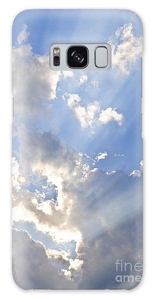 Blue Sky With Sun Rays Galaxy Case