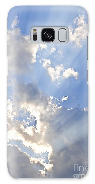 Blue Sky With Sun Rays Galaxy Case