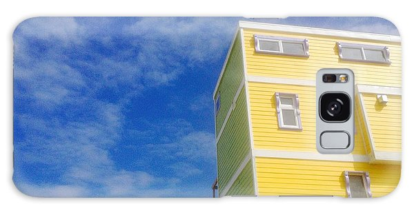 Blue Sky Yellow House Galaxy Case