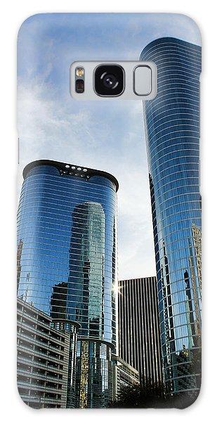 Blue Skyscrapers Galaxy Case