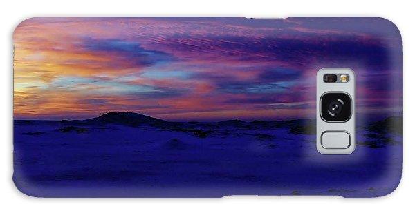 Blue Snow Sunset Galaxy Case by Kathi Mirto