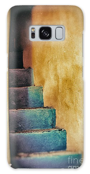 Blue Stairs - Yellow Wall    Galaxy Case