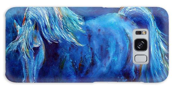Blue Stallion Galaxy Case by Jennifer Godshalk