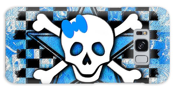 Blue Star Skull Galaxy Case
