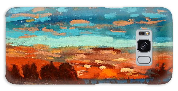 Blue Sunset Pastel Galaxy Case by Joseph Hawkins
