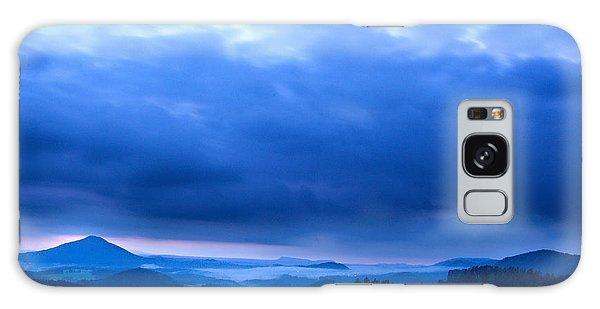 Blue Sunset Galaxy Case