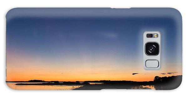 Blue Sunset Galaxy Case by Ursula Lawrence