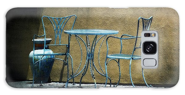 Blue Table And Chairs Galaxy Case