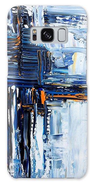 Blue Thunder Galaxy Case by Rebecca Davis