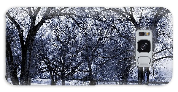 Blue Tone Trees Galaxy Case by Aliceann Carlton