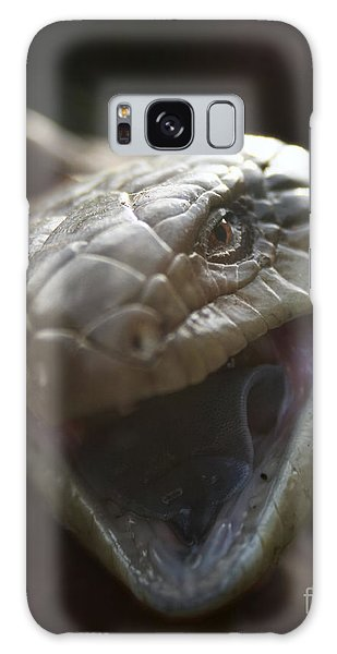 Blue Tongue Lizard Galaxy Case by Joy Watson