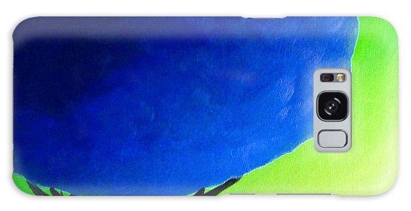Blue Tree Galaxy Case by Anita Lewis