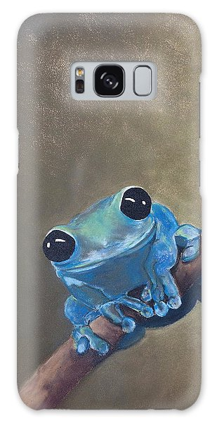 Blue Tree Frog On A Branch Galaxy Case
