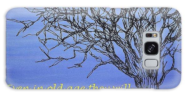 Blue Tree Galaxy Case by Kathleen Pio