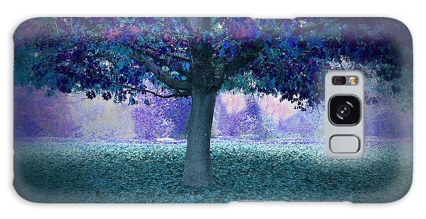 Blue Tree Monet Painting Background Galaxy Case
